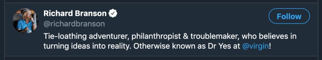 Richard Branson Social Media