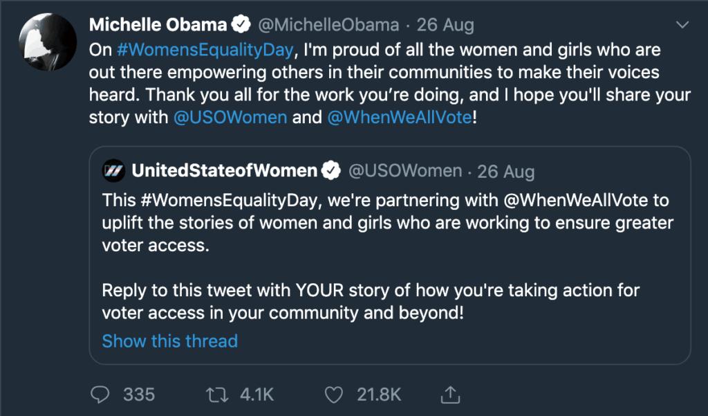 Michelle Obama Social Media