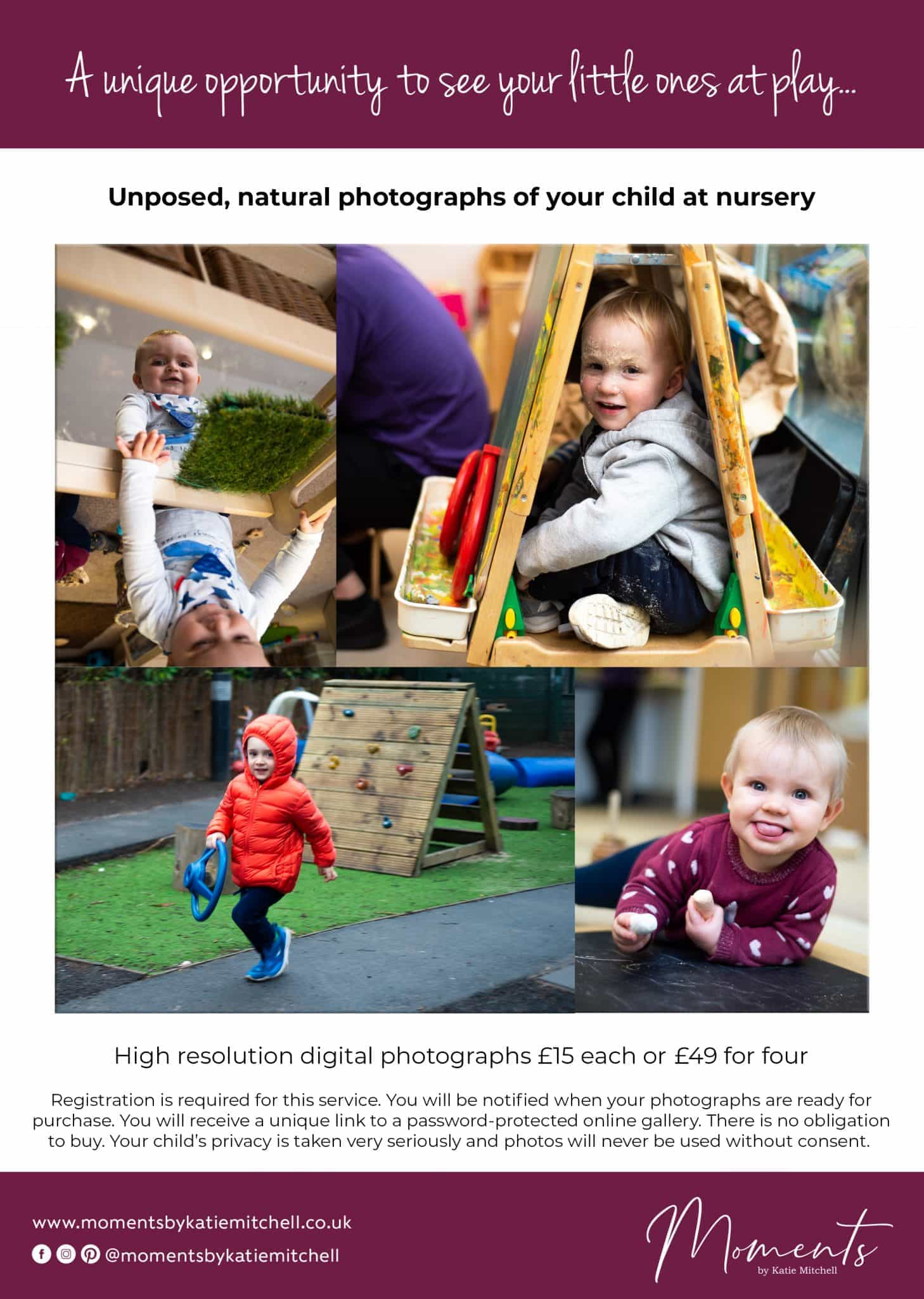 Nursery Photography Leaflet