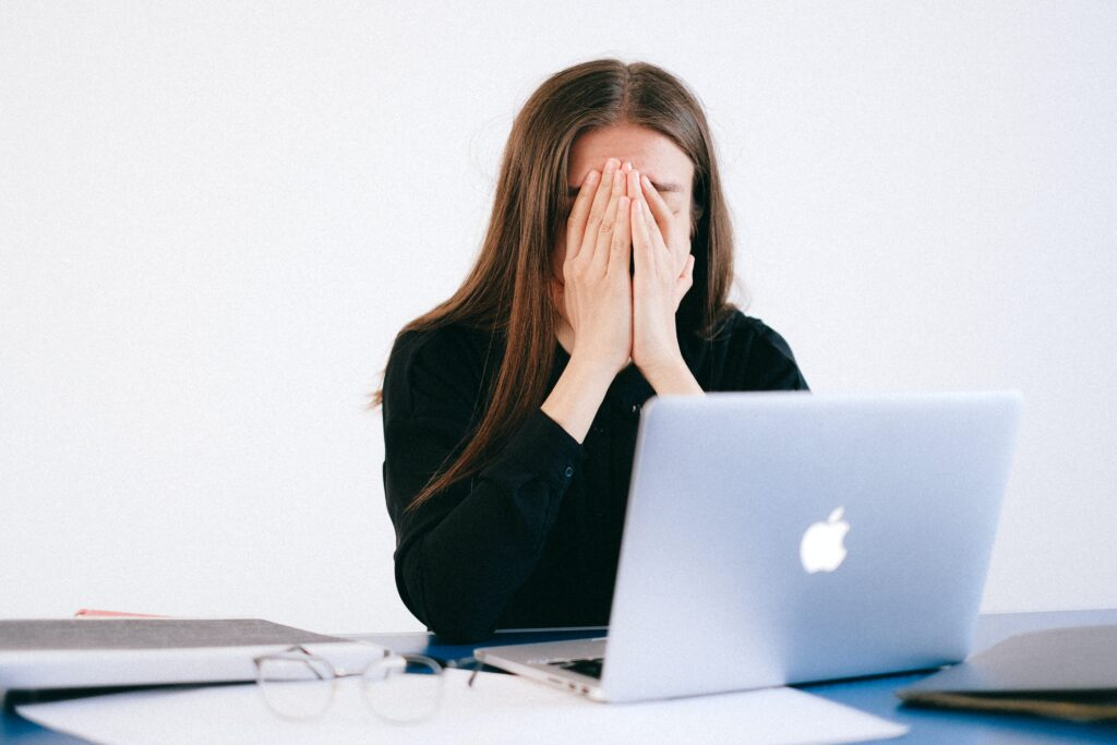 Negative image associated with stock photography