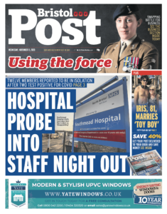 Bristol Post Front Page - Moments by Katie Mitchell